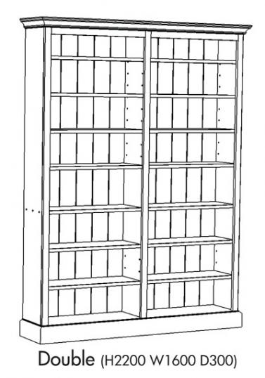 Double Unit Bookcase