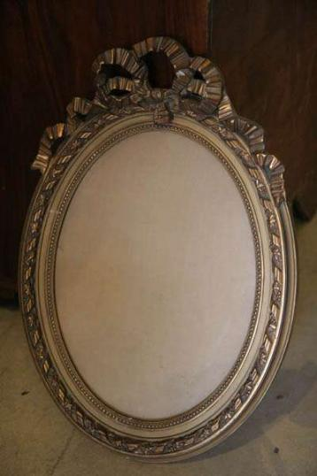 John Stephens Small Oval Crested Mirror