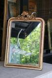 71-71 - French Louis Philippe Crested Mirror